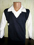 Рубашка-обманка  для мальчика 128-134,134-140, фото 2