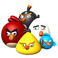 Angry Birds 1 Вафельная картинка