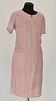 Модное легкое платье прямого кроя
