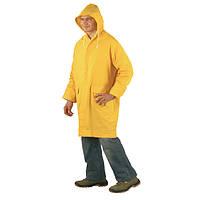Куртка ПВХ, влагонепроницаемая, желтая. Размер L