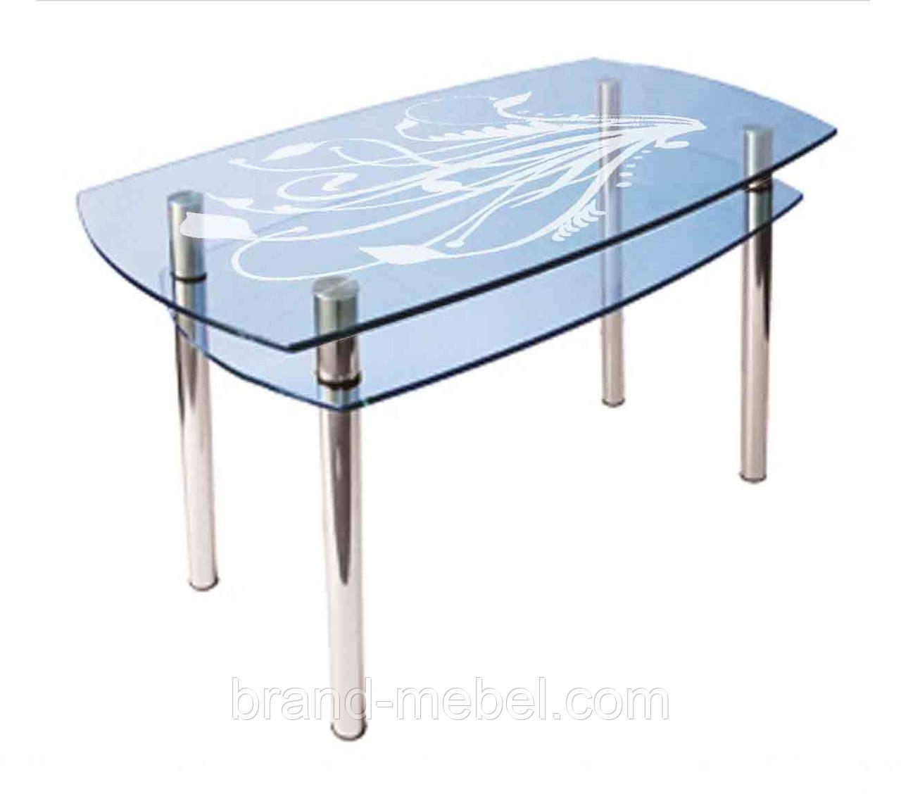 Стол стеклянный КС-2 пескоструй
