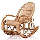 кресла качалки из ивовой лозы