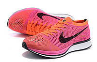 Женские кроссовки Nike Flyknit Racer orange