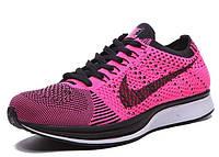 Женские кроссовки Nike Flyknit Racer pink, фото 1