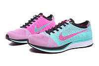 Женские кроссовки Nike Flyknit Racer pink-blue
