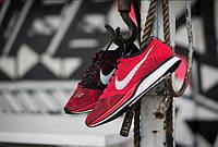 Женские кроссовки Nike Flyknit Racer красные, фото 1