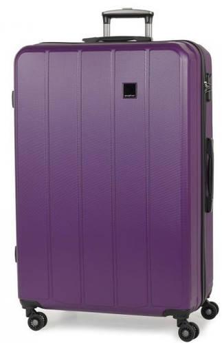 Надежный пластиковый 4-колесный чемодан 136 л. Members Nexa (XL), 922594 фиолетовый