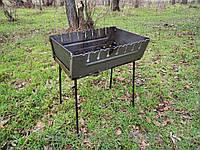 Мангал-чемодан на 10 шампуров сталь 3 мм, фото 1