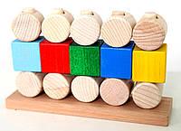 Деревянный конструктор-пирамидка «Стена»