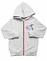 Кофта для девочки:цвет -Серый,размер-110,5 лет