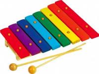Деревянный цветной ксилофон 8 тонов