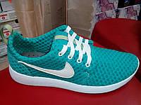 Летние женские кроссовки сетка, зеленые REGENT.