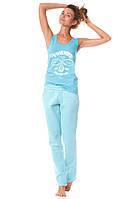Флисовые штаны голубые