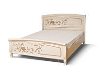 Кровать Ванесса 180 2сп 1100х1890х2130мм венге светлый лак Світ Меблів