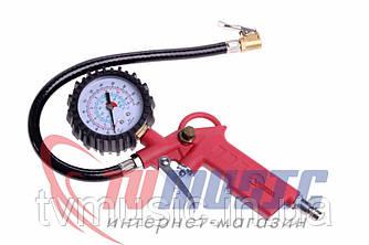 Пистолет для подкачки колес с манометром пневматический INTERTOOL PT - 0504