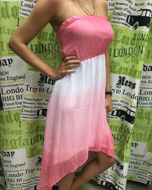 Летнее платье асимметричной длины