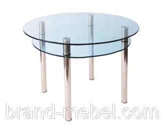 Стол стеклянный КС-3 прозрачный