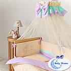 Комплект постельного белья Funny Bunny фиолет 7 пр, фото 5