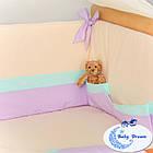 Комплект постельного белья Funny Bunny фиолет 7 пр, фото 7