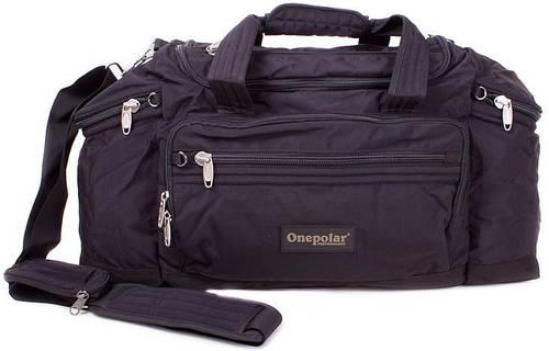 Мужская вместительная дорожная спортивная сумка 60 л. Onepolar WB810-black