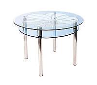 Стол стеклянный КС-3 пескоструй