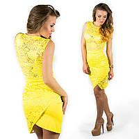 Желтое платье 15554