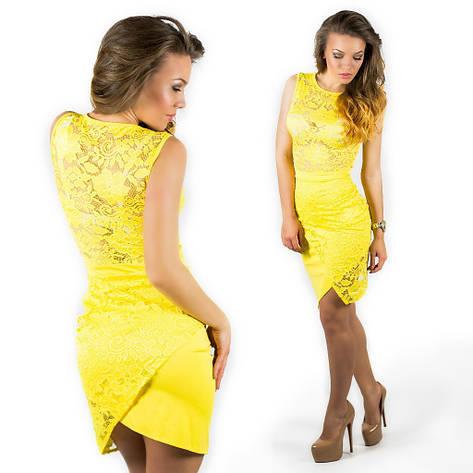 Желтое платье 15554, фото 2