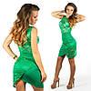 Зелёное платье 15554