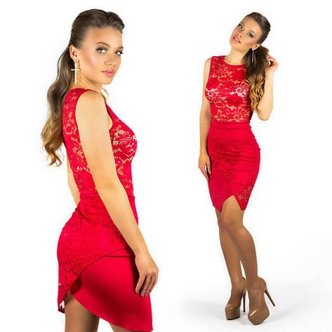 Красное платье 15554, фото 2