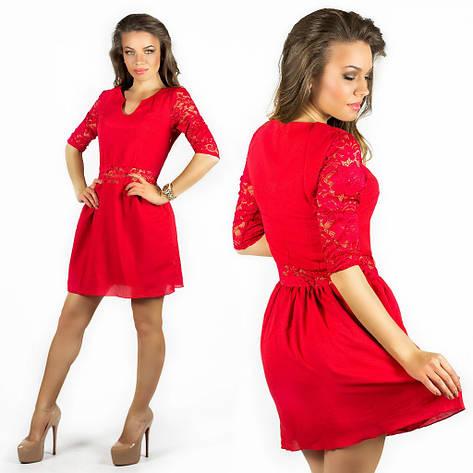 Красное платье 15547, фото 2
