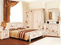 Спальня Ванесса комплект 4Д венге светлый лак Світ Меблів