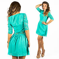 Бирюзовое платье 15547
