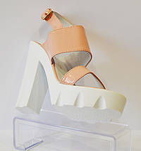 Женские босоножки на высоком каблуке Nivelle 1704, фото 3