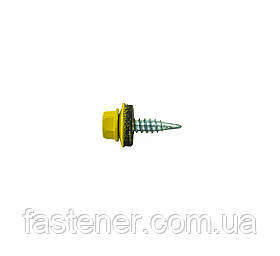 Саморез кровельный для листового металла Farmarskruv 4,8х20 с шайбой EPDM, RAL 1004, (упак-250 шт), Швеция