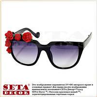 """Очки """"Flowers"""" с красными розами (как Dolce & Gabbana)"""