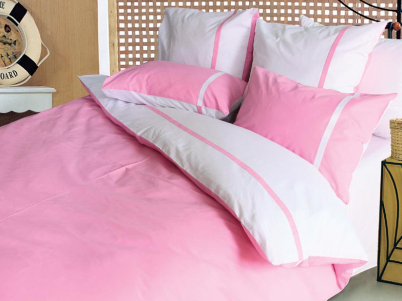 """Комплект постільної білизни """"Дует рожевий"""" ТЕП сатин (100% бавовна) недорого."""