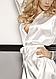 Сатиновый белый халатик Candy ecri, фото 3