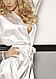 Сатиновый белый халатик Candy ecri, фото 9