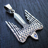 "Кулон ""Тризуб Сокол"" серебро 925 -  символ свободы"
