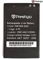Батарея (акб, аккумулятор) для Prestigio MultiPhone 3400 / PAP3400, 1500 mAh, оригинал