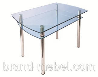 Стол стеклянный КС-4 прозрачный