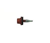 Саморез кровельный для листового металла Farmarskruv 4,8х20 с шайбой EPDM, RAL 3016, (упак-250 шт), Швеция
