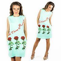 Бирюзовое платье 152033