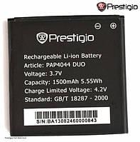 Батарея (акб, аккумулятор) для Prestigio MultiPhone 4044 / PAP4044, 1500 mAh, оригинал
