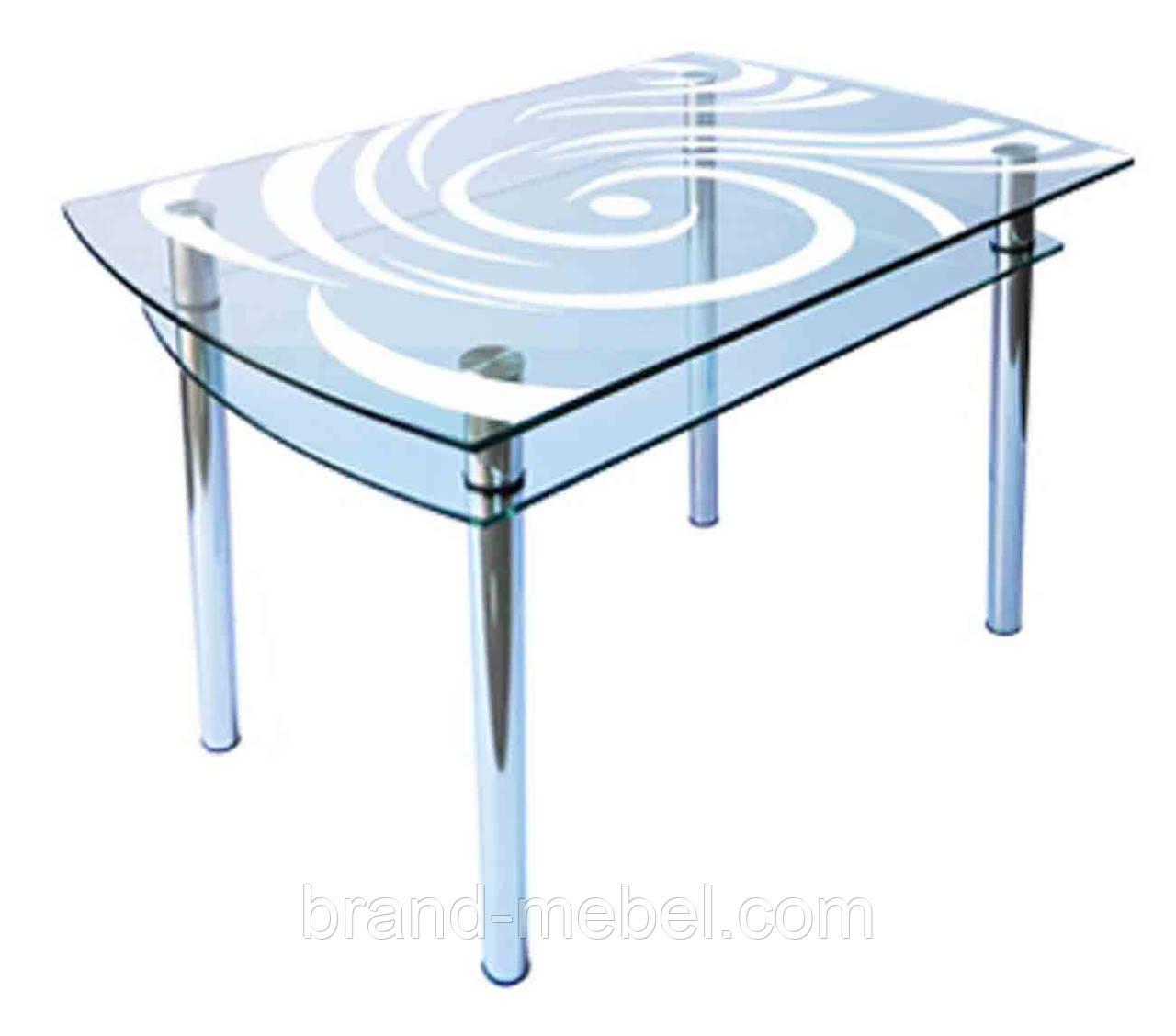 Стол стеклянный КС-4 пескоструй