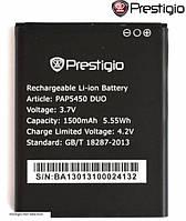 Батарея (акб, аккумулятор) для Prestigio MultiPhone 5450 / PAP5450 (1500 mAh) оригинал