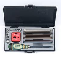 """1/4"""" Набор инструмента: отвёртка-трещотка со сменными битами 25 пр."""