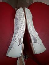 Летние кожаные балетки  МИДА 23474 беж., фото 2