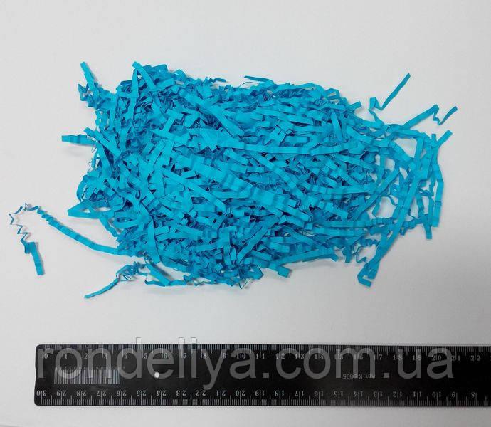 Наполнитель бумажный ярко голубой