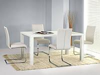 Стол обеденный деревянный RONALD 80/120 белый Halmar